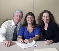 From left to right: Michael Villaire, MSLM, Julie McKinney, MS, and Sabrina Kurtz-Rossi, MEd