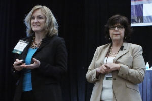 From left,Terri Ann Parnell, DNP, RN, Joanne Turnier, MS