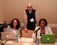 From left to right: Kathleen Hoffman, PhD, MS, MSPH, RV Rikard, PhD, Alisa Hughley, MPH