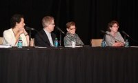 From left to right: Cynthia C. Peña, MPH, MSW, Steve Sparks, Bonnie Braun, PhD, Cynthia Baur, PhD (Moderator)