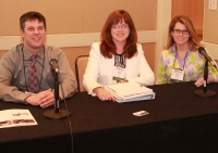 From left to right: Ryan Barker, MSW, MPPA, Kelly Ferrara, Catina O'Leary, Ph.D.